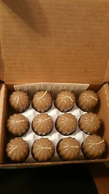 Home Interiors HOMCO Camel / Sandalwood Votive Candles New in Box