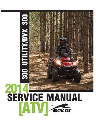 Arctic Cat 2014 ATV 300 Utility / DVX 300 service manual in binder