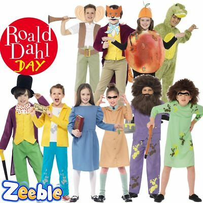 Roald Dahl Day Costume Boys Girls Kids Fancy Dress Matilda Charlie Bucket