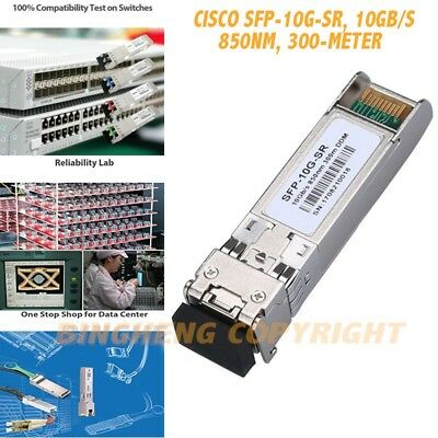 for Cisco SFP-10G-SR, 10Gb/s SFP+Transceiver module, 10GBASE-SR, MMF, 850nm, 30m