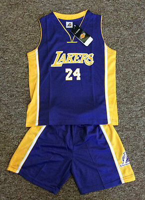 Bnwt Kids Youth Basketball Jersey #24 Kobe Bryant Lakers 1 Set Jerseys & Shorts