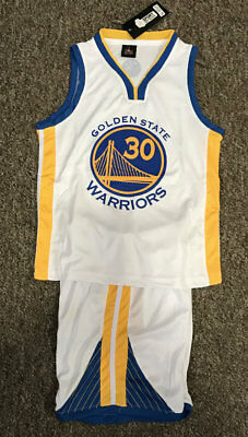 Kids Basketball Jersey #30 Stephen Curry Golden State Warriors 1 Sets White