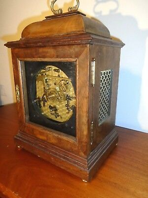Quality Mahogany Cased Garrard Georgian Style Bracket Clock For Restoration