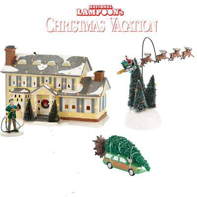 NEW Department 56 National Lampoon's Christmas Vacation 4pc Set House, Tree