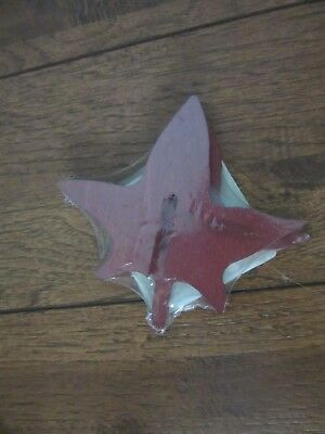 Longaberger Woodcrafts Sweet Gum Leaf  BRICK RED Ships next day