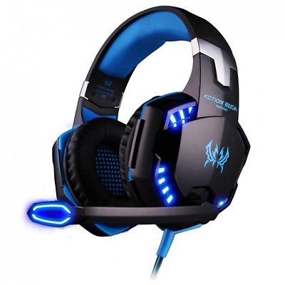 ArkarTech - Casque Gaming Micro G2000 Filaire PC Headset Basse Stéréo LED - NEUF