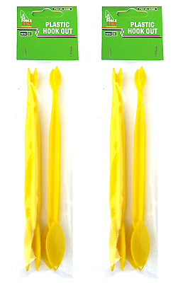 4 FISHING HOOK REMOVERS  *Removes Hooks Easy* HOOK DISGORGER FORCE TEN TACKLE