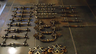 vintage drawer pulls handles hardware lot