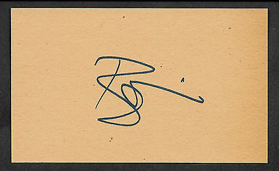 David Bowie Autograph Reprint On Old 3x5 Card