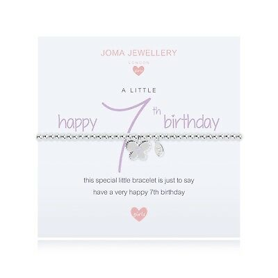 Joma Jewellery Girls Butterfly CHILDRENS Silver Plated Bracelet 7th Birthday