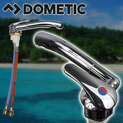 Dometic Hot & Cold Fold Down Flick Mixer Tap Rv Caravan Motorhome Sink Water
