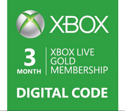 E-Code Microsoft Xbox LIVE 3 Month Gold Membership for Xbox 360 / XBOX ONE