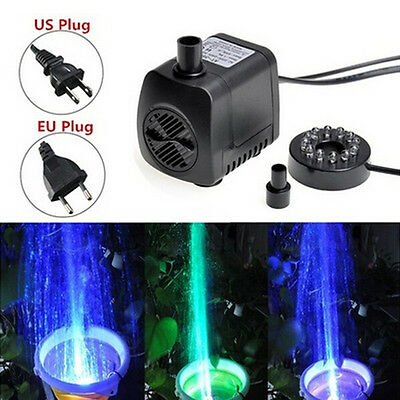 210 GPH Submersible Water Pump For Aquarium Fish Tank Pond Fountain Pop.