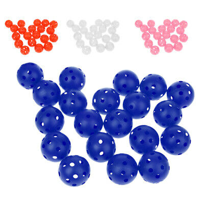 Plastic Training Golf Balls Portable Hollow Perforated Practice Tennis Ball