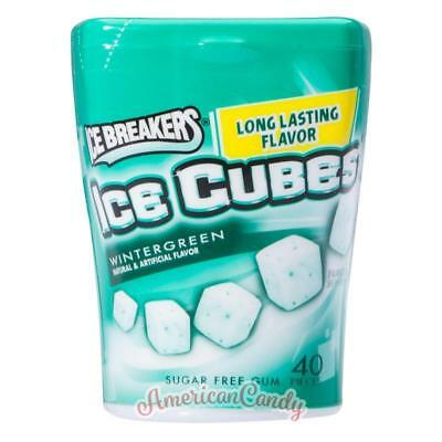 ENDLICH WIEDER DA:  2x Ice Breakers ICE CUBES WINTERGREEN Amerika (10,85€/100g)