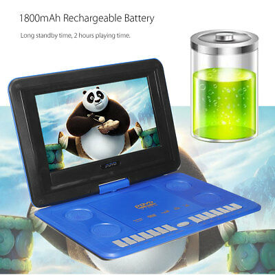 13.3'' Inch Portable In Car DVD Player Game Remote Control 270° Swivel Screen