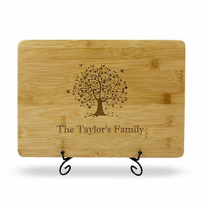 Personalised Engraved Cutting Board for Christmas Gift Custom Artwork Invited