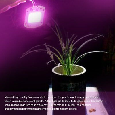 Full Spectrum COB LED Plant Grow Light Chip 380nm-840nm 20/30/50W AC110/220V F5