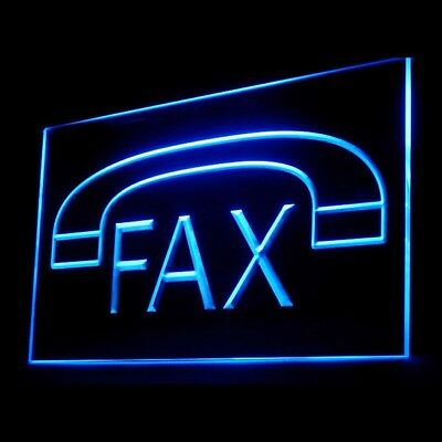200030 Fax Machine Phone Download Service Business Sorter Office LED Light Sign