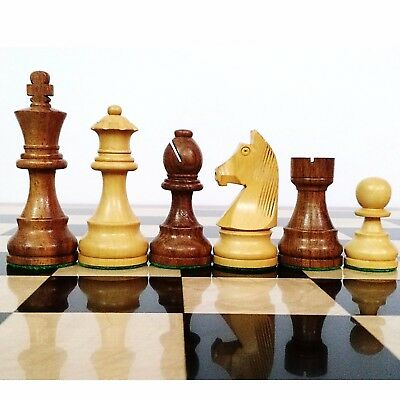 "3.9"" Tournament Chess Pieces only Wooden set  Staunton Sheesham wood Extra Queen"