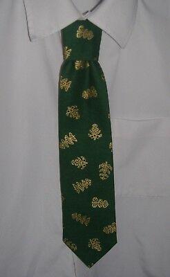 Boys Green Christmas Trees Tie - Pre-tied elasticated