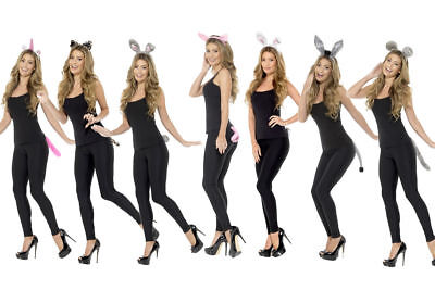 Adults Animal Headband & Tail Sets Instant Animal Fancy Dress Outfit
