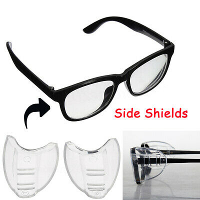 Clear Universal Flexible Protective Cover Side Shields Flap Side For Eye Glasses
