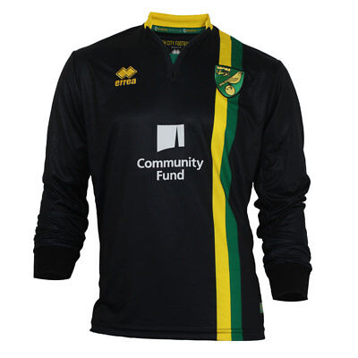 Official Norwich City Fc Replica Long Sleeved 2016 - 2017 Away Shirt