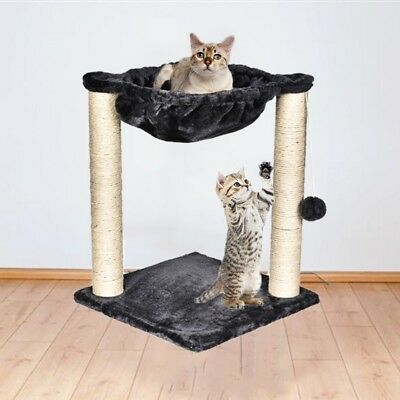 20 Sisal Rope Cat Tree Condo Furniture Scratching Post With Hammock Kitty Toy