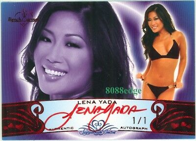 2010 Benchwarmer Ss Red Foil Auto: Lena Yada #1/1 Of Autograph Signature Series