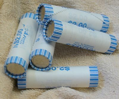 All 5 Gem Bank-Wrapped Rolls Westward Journey Peace Keelboat Buffalo Ocean 2006D