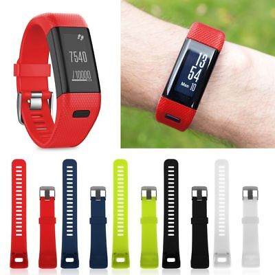 UK Replacement HQ Silicone Bracelet Strap Watch Band for Garmin Vivosmart HR +