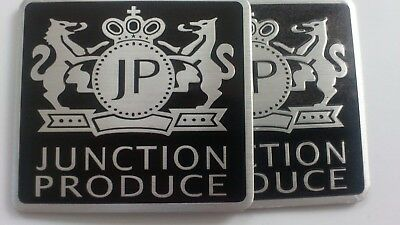 3D Junction Produce -rectangle-2x Set Decal Emblem -selbstklebend Aluminium NEU!
