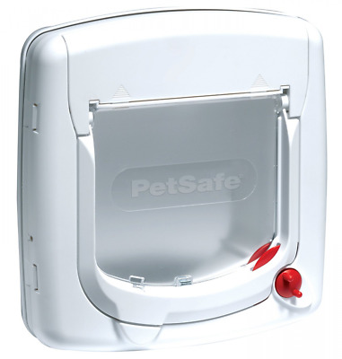 PetSafe Staywell Deluxe Manual 4-Way Locking Cat Flap - White