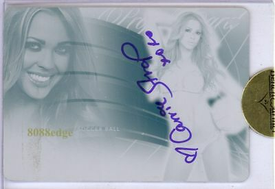 2010 Benchwarmer Ultimate Prop Plate Auto: Carrie Stroup 1/1 Autograph