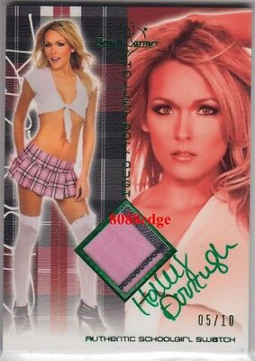 2011 Benchwarmer Hft School Girl Auto: Holley Dorrough #5/10 Swatch Autograph