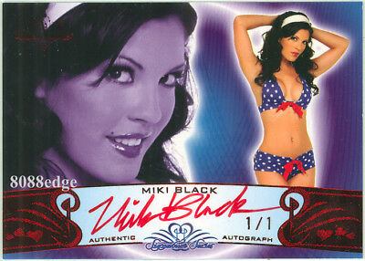 2010 Benchwarmer Red Foil Auto: Miki Black #1/1 Of Autograph Signature Playboy