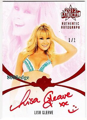2012 Benchwarmer National Auto: Lisa Gleave #1/1 Of One Red Autograph Aussie Hot