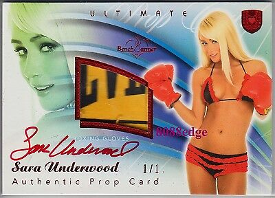 2010 Benchwarmer Ultimate Prop Auto:sara Underwood #1/1 Of Red Autograph Playboy