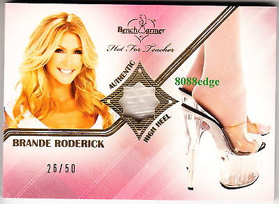 2012 Benchwarmer High Heel Swatch: Brande Roderick #26/50 Worn Shoe Playmate