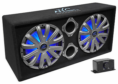 """NYC Acoustics NSE212L Dual 12"""" 1800w Powered/Amplified Car Subwoofer System+LED"""