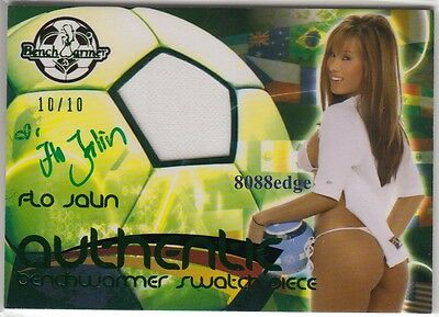 2010 Benchwarmer International Swatch Auto: Flo Jalin #10/10 Autograph Signature