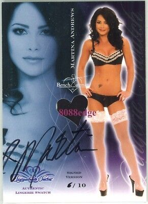 2008 Benchwarmer Ss Lingerie Auto: Martina Andrews #6/10 Autograph Swatch