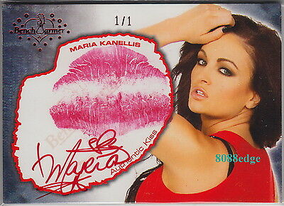 2012 Benchwarmer Daizy Dukez Kiss Auto: Maria Kanellis #1/1 Of One Red Autograph