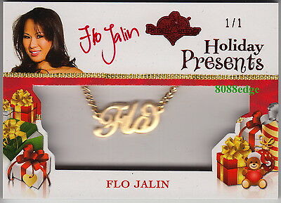 2012 Benchwarmer Holiday Presents Auto: Flo Jalin #1/1 Of One Red Autograph Gold