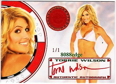 2012 Benchwarmer Vegas Baby Auto:torrie Wilson #1/1 Of One Red Autograph Playboy