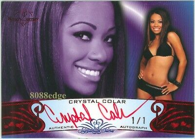 2010 Benchwarmer Sig Red Auto 72A: Crystal Colar #1/1 Of Autograph