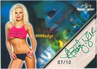 2009 Benchwarmer Limited Green Foil Auto: Buffy Tyler #7/10 Autograph