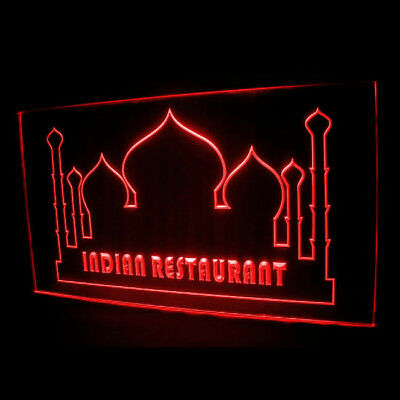 110011 Indian Restaurant Building Cafe Food Curry Delicious Beef LED Light Sign