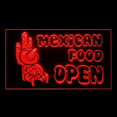 110043 Mexican Food Open Best Restaurant Cafe Traditional Nachos LED Light Sign